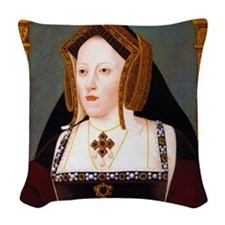 Catherine of Aragon Woven Throw Pillow