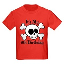 9th Birthday Pirate Skull T