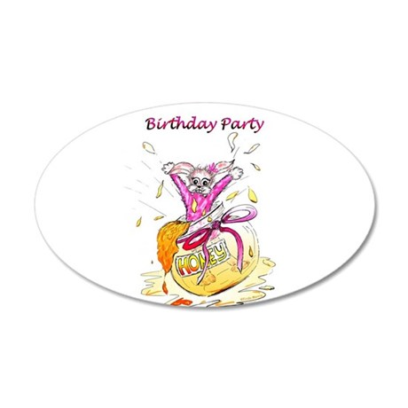 Honey Bunny - Birthday Party Invitation 20x12 Oval