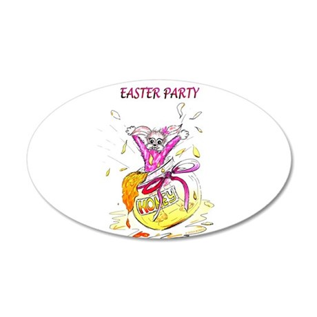 Honey Bunny Easter Party invitation 35x21 Oval Wal