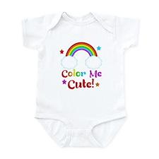 Color Me Cute Kids Rainbow Design Body Suit