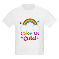 Color Me Cute Kids rainbow Design T-Shirt