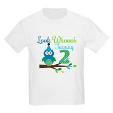 Second Birthday Boy Owl Image T-Shirt