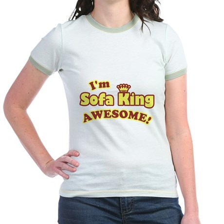 I'm Sofa King Awesome! Jr Ringer T-Shirt