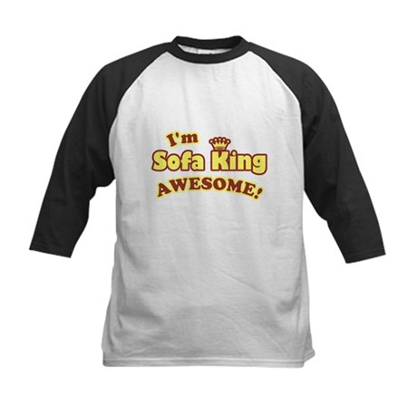 I'm Sofa King Awesome! Kids Baseball Jersey