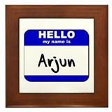 hello my name is arjun  Framed Tile
