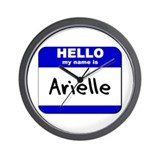 hello my name is arielle  Wall Clock
