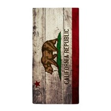 Wooden California Flag1 Beach Towel