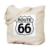 Route 66 W Tote Bag