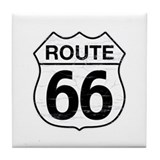 Route 66 W Tile Coaster