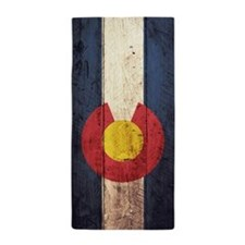 Wooden Colorado Flag1 Beach Towel