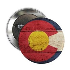 "Wooden Colorado Flag3 2.25"" Button (10 pack)"