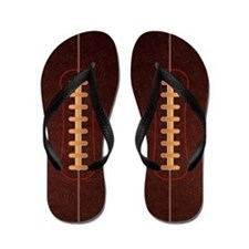 Pigskin Football Flip Flops