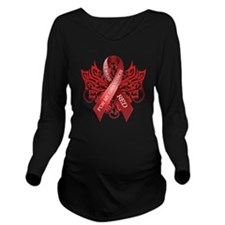 I Wear Red for my Gr Long Sleeve Maternity T-Shirt