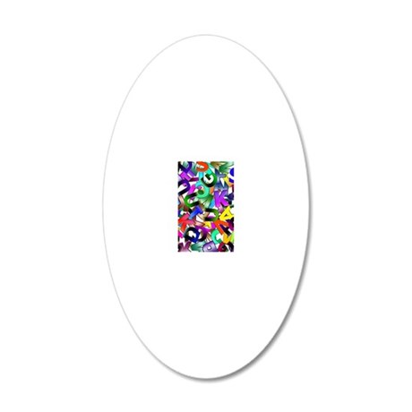 Colorful Alphabet 20x12 Oval Wall Decal