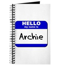hello my name is archie Journal