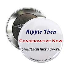 """Hippie Then 2.25"""" Button"""