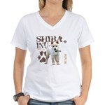 Shiba Inu Women's V-Neck T-Shirt