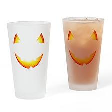 Cute Halloween Pumpkin Jack o Lante Drinking Glass