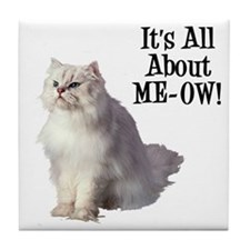 ME-OW Persian Cat Tile Coaster