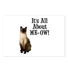 ME-OW Siamese Cat Postcards (Package of 8)