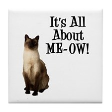 ME-OW Siamese Cat Tile Coaster