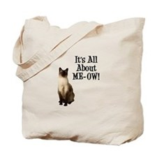 ME-OW Siamese Cat Tote Bag