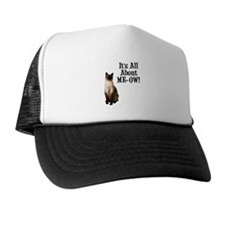ME-OW Siamese Cat Trucker Hat