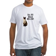 ME-OW Siamese Cat Fitted T-Shirt