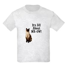 ME-OW Siamese Cat Kids Light T-Shirt