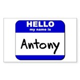 hello my name is antony Rectangle Decal