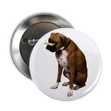 Brindle Boxer Photo Button