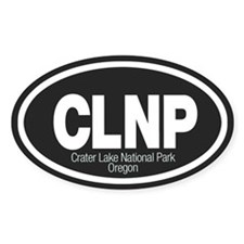 Crater Lake National Park Oval Decal
