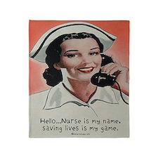 Nurse is my Name Throw Blanket