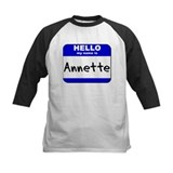 hello my name is annette Tee