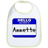 hello my name is annette  Bib