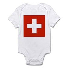 Switzerland Flag Infant Bodysuit