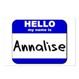 hello my name is annalise  Postcards (Package of 8