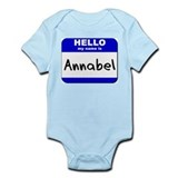 hello my name is annabel  Onesie
