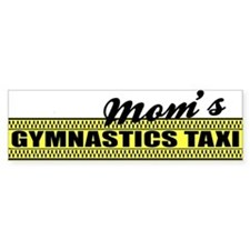 Mom's Gymnastics Taxi Vinyl Bumper Car Sticker
