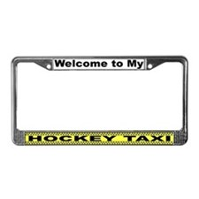 Hockey Taxi License Plate Frame