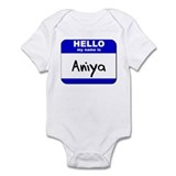 hello my name is aniya  Onesie