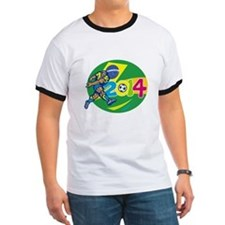 Brazil 2014 Soccer Football Player Retro T-Shirt