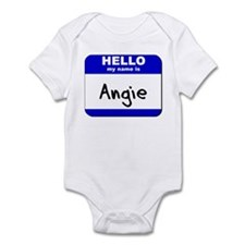 hello my name is angie  Infant Bodysuit