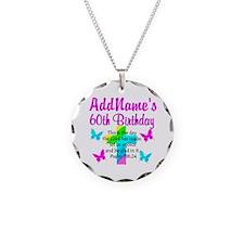GOD LOVING 60TH Necklace Circle Charm