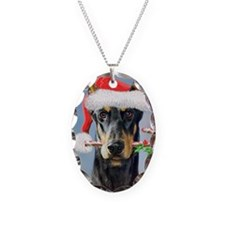 Doberman Christmas Necklace