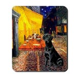 Cafe & Black Lab Mousepad