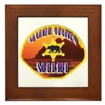 Malibu Sheriff Framed Tile