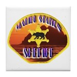 Malibu Sheriff Tile Coaster