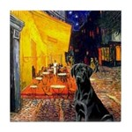 Cafe & Black Lab Tile Coaster